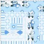 Tecido Estampado para Patchwork - PY001 Patchouly Logcabin Azul Cor 01 (0,60x1,40)