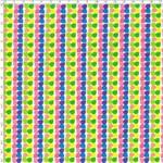 Tecido Estampado para Patchwork - RB037 Floral Geom. Coloridas F. Branco Cor 01 (0,50x1,40)