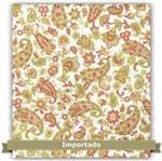 Tecido Estampado para Patchwork - Rosas Exóticas Arabescos (0,50x1,10)