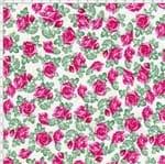 Tecido Estampado para Patchwork - Rosas Miúdas 325252 Cor 1053 (0,50X1,40)