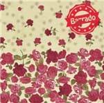 Tecido Estampado para Patchwork - Roses By Mirella Nakata: Barrado de Rosas Bordô (0,50x1,40)