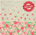 Tecido Estampado para Patchwork - Roses By Mirella Nakata: Barrado de Rosas Cinza (0,50x1,40)