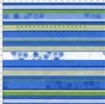 Tecido Estampado para Patchwork - Roses By Mirella Nakata: Listrados com Rosas Azul (0,50x1,40)