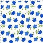 Tecido Estampado para Patchwork - Roses By Mirella Nakata: Rosas Média Azul (0,50x1,40)