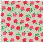 Tecido Estampado para Patchwork - Roses By Mirella Nakata: Rosas Média Cinza (0,50x1,40)