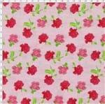 Tecido Estampado para Patchwork - Roses By Mirella Nakata: Rosas Média Rosê (0,50x1,40)