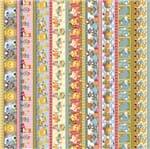 Tecido Estampado para Patchwork - Safari: Safari Faixas Cor 01 (0,50x1,50)