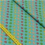 Tecido Estampado para Patchwork - Salada de Frutas: Frutas (0,50x1,50)