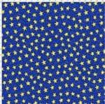 Tecido Estampado para Patchwork - Saturno Estrelas Fundo Azul (0,50x1,40)
