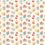 Tecido Estampado para Patchwork - Semaninha By Vitória Quintal: Cupcake Jogadinho (0,50x1,40)