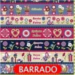 Tecido Estampado para Patchwork - Semaninha Doce Lar Cor 2152 (0,60x1,50)