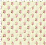 Tecido Estampado para Patchwork - Shabby Chic Mini Rosas Manteiga (0,50x1,40)