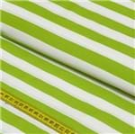 Tecido Estampado para Patchwork - Stripes: Verde Greenery (0,50x1,50)