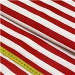 Tecido Estampado para Patchwork - Stripes: Vermelho (0,50x1,50)