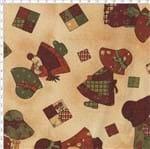 Tecido Estampado para Patchwork - Sunbonnet Boneca Patch (0,50x1,40)