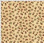 Tecido Estampado para Patchwork - Sunbonnet Floral Vermelha Fundo Bege (0,50x1,40)