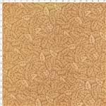 Tecido Estampado para Patchwork - Sunbonnet Folhas Tom Tom Bege (0,50x1,40)