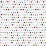 Tecido Estampado para Patchwork - Sweet Garden: Corações Color (0,50x1,40)