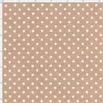 Tecido Estampado para Patchwork - Sweet Garden: Micro Poá Café com Leite (0,50x1,40)