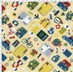 Tecido Estampado para Patchwork - Travel Cor 2003 (0,50x1,40)