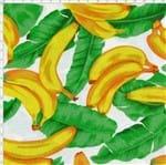 Tecido Estampado para Patchwork - Tropical Fruits Bananas com Folha Cor 01 (0,50X1,40)