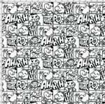 Tecido Estampado para Patchwork - Turma da Mônica: Quadrinho Preto e Branco (0,50x1,40)