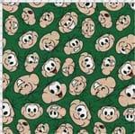 Tecido Estampado para Patchwork - Turma da Mônica: Rostinho Cebolinha (0,50x1,40)