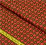 Tecido Estampado para Patchwork - Xadrez: Xadrez Tartan Vermelho com Amarelo (0,50x1,40)