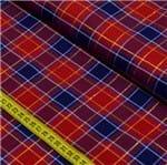 Tecido Fio Tinto para Patchwork - Xadrez Vermelho e Azul Cor 1015 (0,50x1,40)
