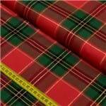 Tecido Fio Tinto para Patchwork - Xadrez Vermelho e Verde Cor 1016 (0,50x1,40)