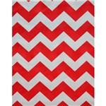 Tecido Gorgurinho Chevron Vermelho e Branco 1m X 1,50m