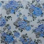 Tecido Jacquard Floral Azul 2,80m de Largura