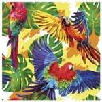 Tecido Quadrado Digital 49 X 49cm - Araras Coloridas