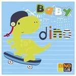 Tecido Quadrado Digital 49 X 49cm - Baby Dino Ref:8080