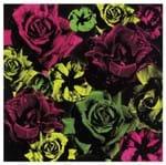 Tecido Quadrado Digital 49 X 49cm - Flores Verde e Pink