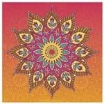 Tecido Quadrado Digital 49 X 49cm - Mandala Colorida Ref:8033