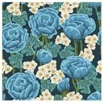 Tecido Quadrado Digital 49 X 49cm - Rosas Azuis