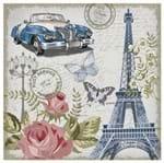 Tecido Quadrado Digital 49 X 49cm - Torre Eiffel Ref:8005