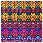 Tecido Quadrado Digital 49 X 49cm - Tricô Colorido Ref:8100