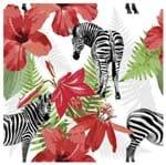Tecido Quadrado Digital 49 X 49cm - Zebras