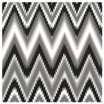 Tecido Quadrado Digital 49 X 49cm - Zigzag Preto e Branco