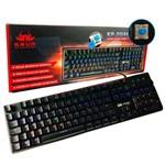 Teclado Mecânico Gamer Anti-Ghosting Iluminado Switch Blue Corpo em Metal 107 Teclas KP-2046