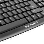 Teclado Multilaser Básico Slim Preto USB