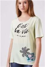 Tee C´est La Vie Verde New Est Silk Cest La Vie Verde New - P