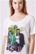 Tee Collagem Duda Off White Est Silk Colagem Duda Off White - P