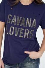 Tee Savana Lovers Tuna Azul Tuna - P