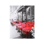 Tela Impressa Caffe Mesas Vermelhas