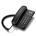 Telefone com Fio e Chave de Bloqueio Elgin Tcf-2200 Preto