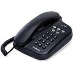 Telefone Intelbras com Fio Tc 500 Preto - Voltagem Bivolt