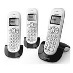 Telefone Sem Fio Alcatel C250 Trio 6.0 com ID de Chamada